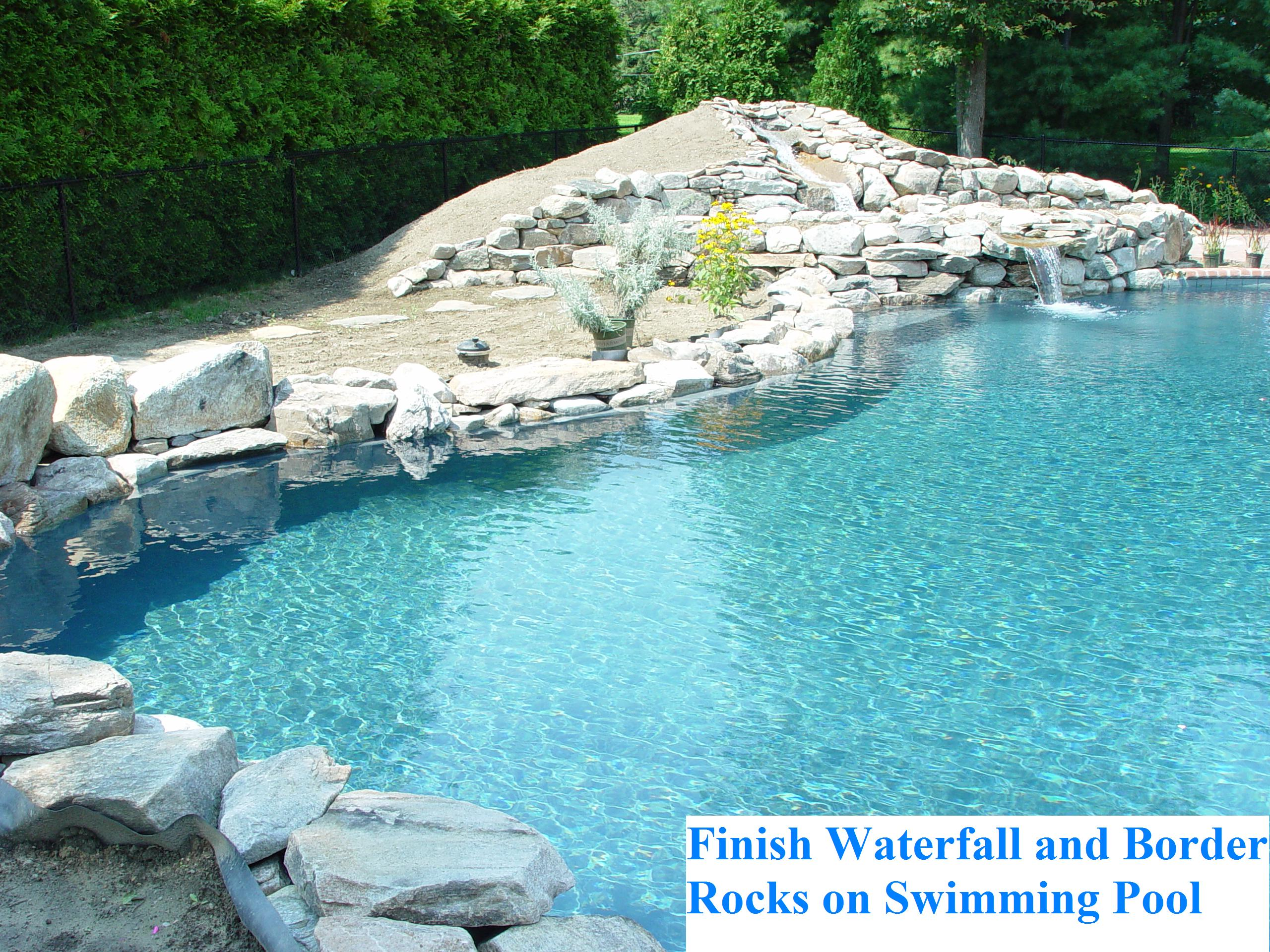 Waterfall on swimming pools | A Piece of Paradise